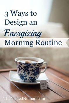 Do something good for you each morning.