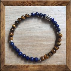 DEEP #PEACE #Mala: #LAPIS stimulates objectivity, #clarity and encourages #creativity. #TIGEREYE lets you see everything.  It stimulates taking #action, and helps you to make decisions with discernment and understanding, and unclouded by your emotions. The #SNAKE is a powerful symbol representing #fertility. As snakes shed their skin, they are symbols #rebirth, #transformation, #immortality + #healing