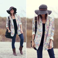 love floral blazers