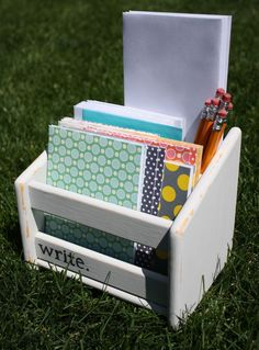 Great gift idea for a budding young writer ... or for a child who has a lot of thank you's to write.