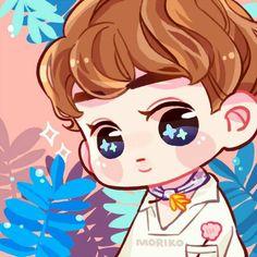 Suho <credits to owner> Kpop Exo, Exo Kokobop, Baekhyun, Exo Stickers, Ko Ko Bop, Exo Fan Art, Kim Minseok, Xiuchen, Kawaii Chibi