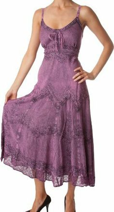 AA4012 - Stonewashed Rayon Embroidered Adjustable Spaghetti Straps Long Dress ( Various Colors & Sizes ) - Orchid/XL/2XL Sakkas,http://www.amazon.com/dp/B007SOMEVE/ref=cm_sw_r_pi_dp_9tzRqb0VRGE1MVDG