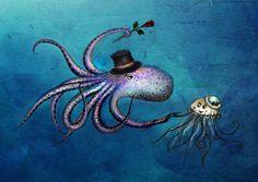 Resultado de imagen para jellyfish octopus