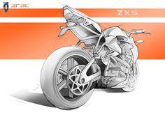 Arac ZXS Concept sketch rear