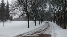 Slow cold day on campus @ Johnston Green