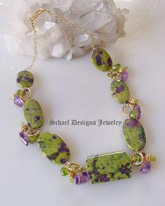 Stitchtite Peridot & Amethyst Necklace