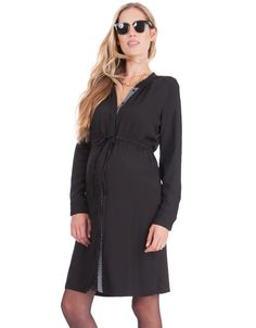 Black Maternity Shirt Dress | Seraphine. Shop in SALE >>> www.Seraphine.com style the bump | maternity clothes | maternity style | pregnancy fashion | first trimester | pregnancy style | pregnant | mom to be | bump style | baby bump |expecting mom | fashion | bump | Seraphine | fashion mum | maternity | style | mom | mum | pregnant woman | nursing | nursing style | style the bump | preggo style | bump envy | fashion mama.