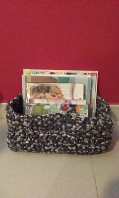 cistella de ganxet xl / cesto de ganchillo xl / crochet basket xl