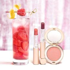 Combine Rose, seltzer, sugar, strawberries, raspberries, and fresh lemon for a sparkling sangria delight. Pair with juicy lips and rosy cheeks !  Speak to us on 0207 838 0765 #makeup #beauty