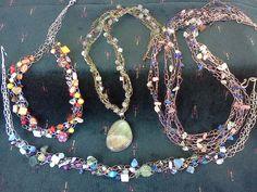 crochet necklaces by Kathleen Scott