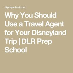 Why You Should Use a Travel Agent for Your Disneyland Trip | DLR Prep School