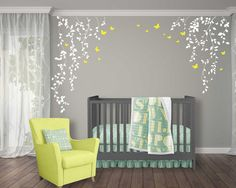 Hey, I found this really awesome Etsy listing at https://www.etsy.com/listing/504432091/butterflies-and-hanging-vines-wall-decal