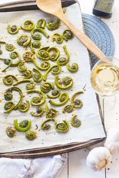 Peppery Balsamic and Garlic Fiddleheads #ad - The Girl on Bloor