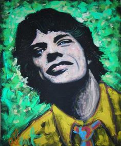 Mick Jagger painting by Denny Dent