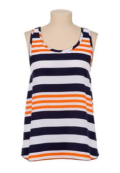 Striped Bow Back Tank from maurices