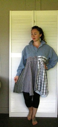 Eco upcycled clothing Funky Patchwork dress