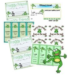 This oh-so-cute classroom theme will have your little tadpoles hopping with joy!  The frog graphics are just too perfect!You will receive:*fi...
