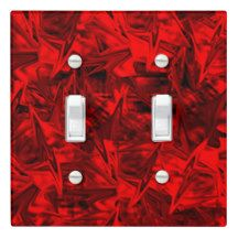 Red Stars Single Toggle Light Switch Cover . By MadClash Designs on Zazzle.