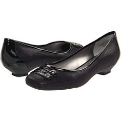 """My """"interview shoes"""": dressy, low heel, but flats. And comfortable! (Yay, Anne Klein!)"""