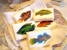 Create simple decorative soaps using fabric and Mod Podge!  Any theme goes!