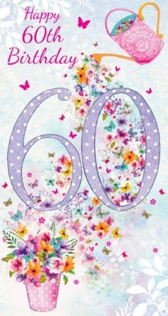 The Number Happy Birthday Meme Happy 60th Birthday Wishes, Birthday Wishes Messages, Happy Birthday Pictures, Birthday Wishes Cards, Happy Birthday Fun, Birthday Greeting Cards, Birthday Numbers, Vintage Style, Amazon