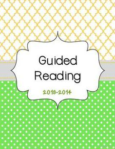 This Guided Reading Plan Book has everything to keep your guided reading plans and data collection organized!