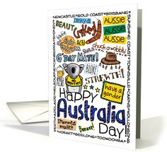73 best uncommon greeting cards images on pinterest in 2018 happy australia day wordcloud card m4hsunfo