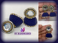 Grand Seed bead jhumka Silk Thread Jumkas, Silk Thread Bangles, Thread Jewellery, Jewelry, Bead Earrings, Crochet Earrings, Seed Beads, Jewlery, Jewerly