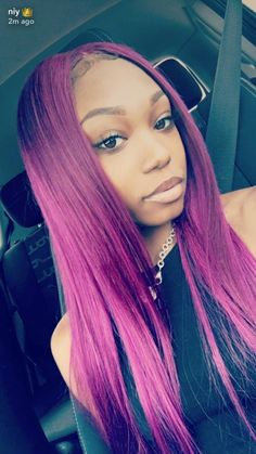 sew ins hairstyles with color purple Sew In Hairstyles, Black Girls Hairstyles, African Hairstyles, Hairstyles Pictures, Extreme Hair Colors, Fox Hair Dye, Sew In Hair Extensions, Curly Hair Styles, Natural Hair Styles