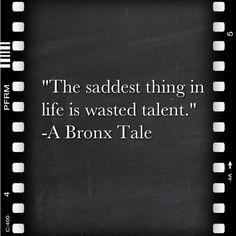 A Bronx Tale (1993) directed by Robert De Niro and written by Chazz Palminteri