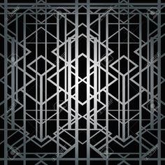 Аннотация геометрический рисунок в стиле арт-деко Клипарты, векторы, и Набор Иллюстраций Без Оплаты Отчислений. Image 42725422.