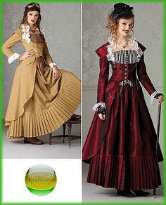 Simplicity 2172 Victorian Steampunk Skirt Bustier & Coat Patterns