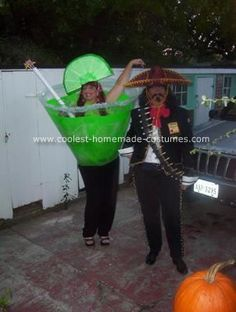 Margarita & Jose Cuervo | 29 Hilarious Couples Halloween Costumes