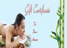 Gift Certificates Samples Alluring Spa Gift Certificate Template  27 Word Psd Templates Amazing .