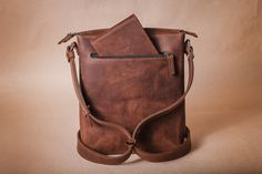 Leather bag Messenger bag Mens leather bag by HollaCompany on Etsy