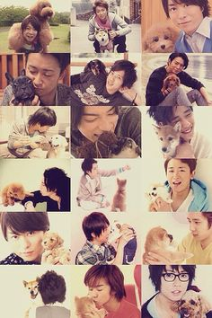 Two of my favorite things! Arashi + puppies!!