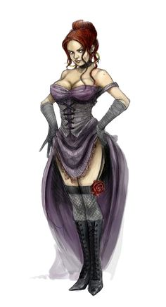 Female Human Prostitute - Pathfinder PFRPG DND D&D 3.5 5th ed d20 fantasy