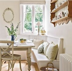Built in kitchen bench. Photo from September Ideal Home mag.