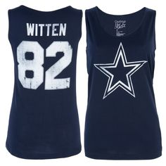 Jason Witten Dallas Cowboys Women's Navy Player Name & Number Tank Top