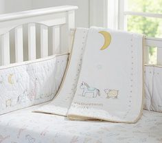 Leigh Nursery Bedding It has sheep & horses too cute!!! #PotteryBarnKids