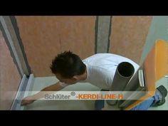 ▶ Dusche fliesen mit Linienentwässerung: Wandeinbau - YouTube