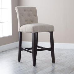 Morgana Beige Tufted Bar Stool