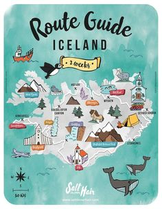 Iceland Route Guide Ultimate 2 week Iceland Travel Itinerary : Iceland Route Guide: a 2 week Iceland travel itinerary Travel Route, Travel Maps, Places To Travel, Travel Europe, Travel Packing, Iceland Travel Tips, Map Iceland, Iceland Island, Guide To Iceland
