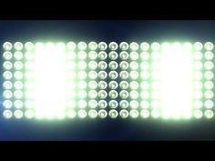 Big Horizontal Flashing Floodlights With Lens Flare - free HD vfx footage