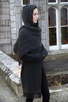 Cable Hooded Wrap