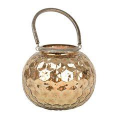 Rose Gold Mercury Glass Votive Lantern   Kirklands