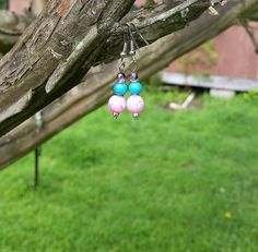 Hey, I found this really awesome Etsy listing at https://www.etsy.com/listing/233855536/purple-czech-glass-beads-turquoise-and