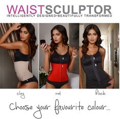 Our WAISTSCULPTOR comes in 3 colours: clay, red and black. Which one is your favourite? Pick one, pick them all. We love all the 3 colours!  #madebyMACOM #WAISTSCULPTOR #waisttraining #threecolours #cinching #shapewear #slimming #beauty #corset #redcorset #blackcorset #nudecorset