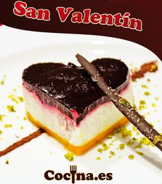 Recetario con románticas ideas para San Valentín >> http://www.recetascomidas.com/recetas-enamorados