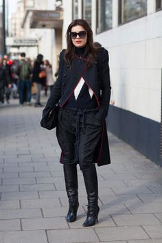 Inspired by military tailoring, this look is styled impeccably.